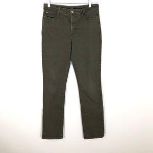 NYDJ Lift Tuck Technology Green Slim Jeans - 14